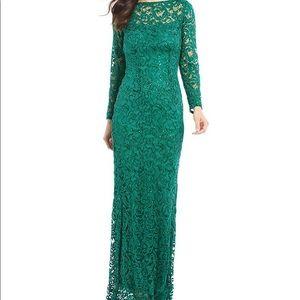MARINA Dresses - Marina Emerald a Green Sequin Lace Illusion Gown